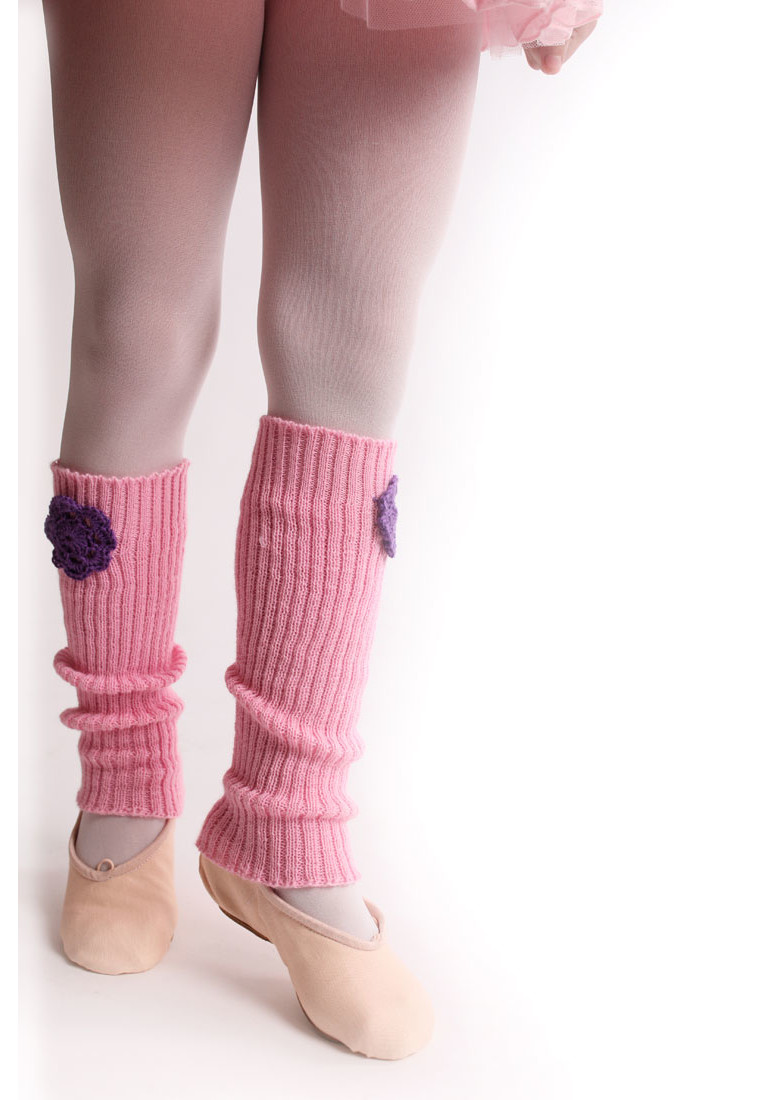 LEGWARMERS FOR KIDS WITH FLOWER BY TANOK 1